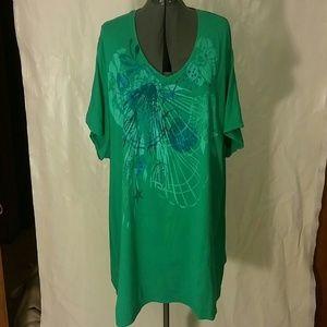 V-neck Embellished T-Shirt